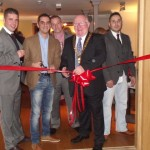 Alex Tryfonos, Scott Murray, James Brown, BANES chairman Rob Appleyard and Jacob Munduz.
